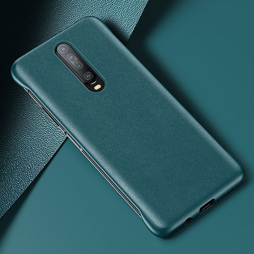 Soft Luxury Leather Snap On Case Cover S06 for Xiaomi Redmi K30 5G Green