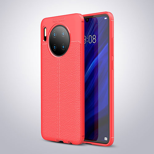 Soft Silicone Gel Leather Snap On Case Cover for Huawei Mate 30 Pro 5G Red