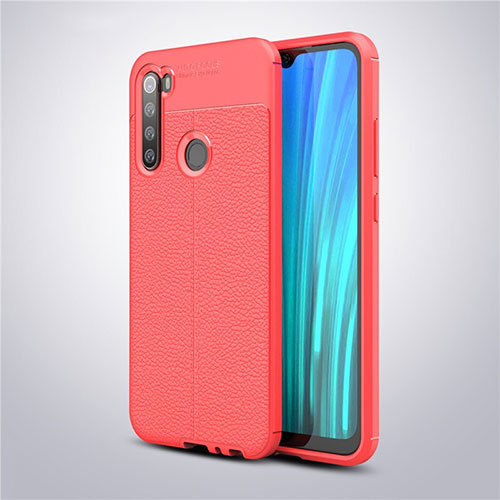 Soft Silicone Gel Leather Snap On Case Cover for Xiaomi Redmi Note 8 Red