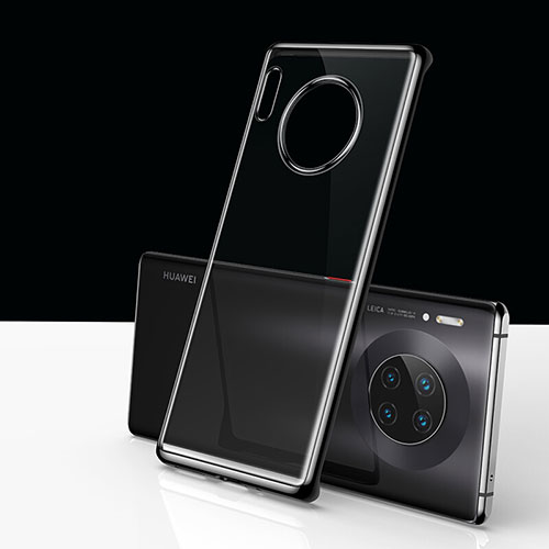 Transparent Crystal Hard Rigid Case Back Cover H01 for Huawei Mate 30 Pro 5G Black