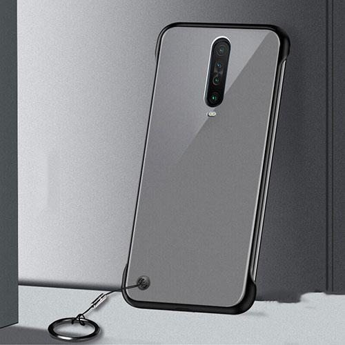 Transparent Crystal Hard Rigid Case Back Cover H01 for Xiaomi Redmi K30 5G Black