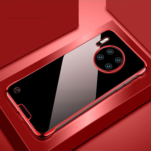 Transparent Crystal Hard Rigid Case Back Cover H02 for Huawei Mate 30 Pro 5G Red