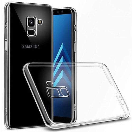 Transparent Crystal Hard Rigid Case Cover for Samsung Galaxy A6 (2018) Dual SIM Clear