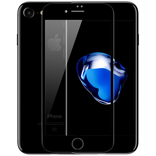 Ultra Clear Full Screen Protector Tempered Glass F02 for Apple iPhone SE (2020) Black