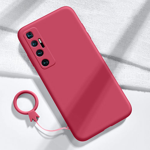 Ultra-thin Silicone Gel Soft Case 360 Degrees Cover for Xiaomi Mi 10 Ultra Red Wine