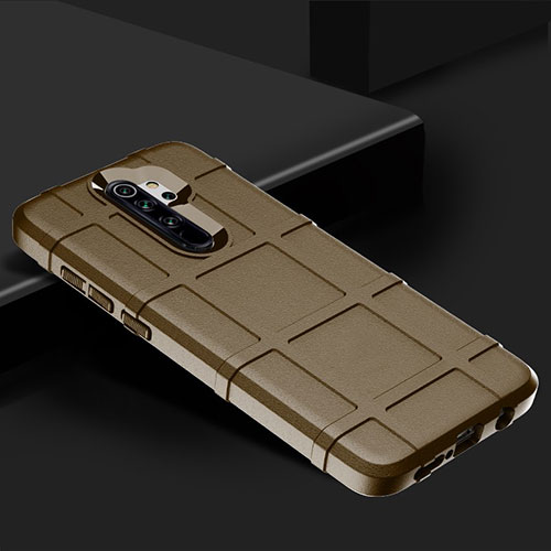 Ultra-thin Silicone Gel Soft Case 360 Degrees Cover for Xiaomi Redmi Note 8 Pro Brown