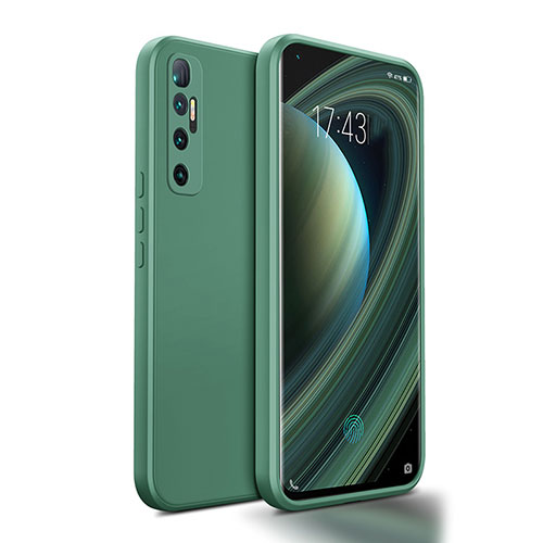 Ultra-thin Silicone Gel Soft Case 360 Degrees Cover S01 for Xiaomi Mi 10 Ultra Midnight Green