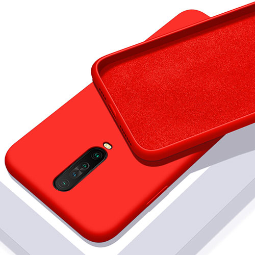 Ultra-thin Silicone Gel Soft Case 360 Degrees Cover S01 for Xiaomi Redmi K30 5G Red