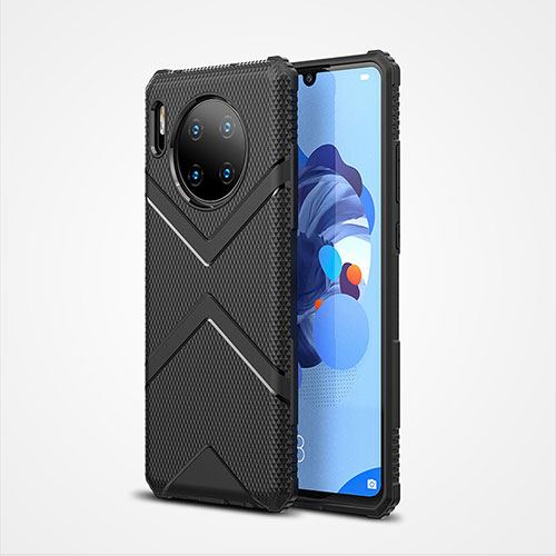 Ultra-thin Silicone Gel Soft Case 360 Degrees Cover S02 for Huawei Mate 30 Pro 5G Black