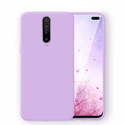 Ultra-thin Silicone Gel Soft Case 360 Degrees Cover S02 for Xiaomi Redmi K30 5G Purple