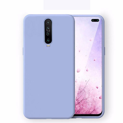 Ultra-thin Silicone Gel Soft Case 360 Degrees Cover S02 for Xiaomi Redmi K30 5G Sky Blue