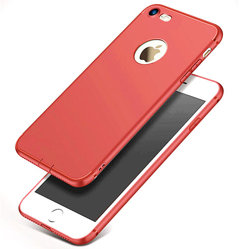 Ultra-thin Silicone Gel Soft Case S07 for Apple iPhone SE (2020) Red