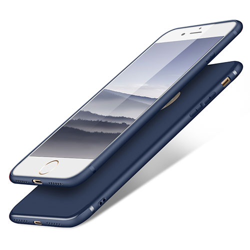 Ultra-thin Silicone Gel Soft Case S09 for Apple iPhone SE (2020) Blue