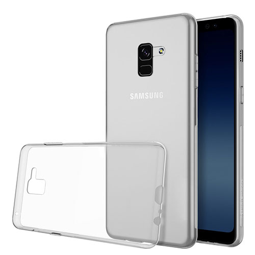 Ultra-thin Transparent TPU Soft Case Cover for Samsung Galaxy A8 (2018) Duos A530F Clear