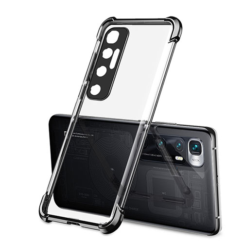 Ultra-thin Transparent TPU Soft Case Cover H01 for Xiaomi Mi 10 Ultra Black