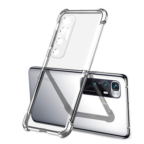 Ultra-thin Transparent TPU Soft Case Cover H01 for Xiaomi Mi 10 Ultra Silver