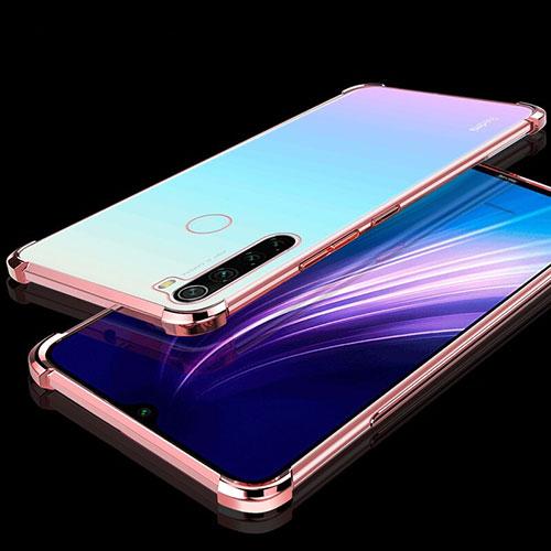Ultra-thin Transparent TPU Soft Case Cover H01 for Xiaomi Redmi Note 8 Rose Gold