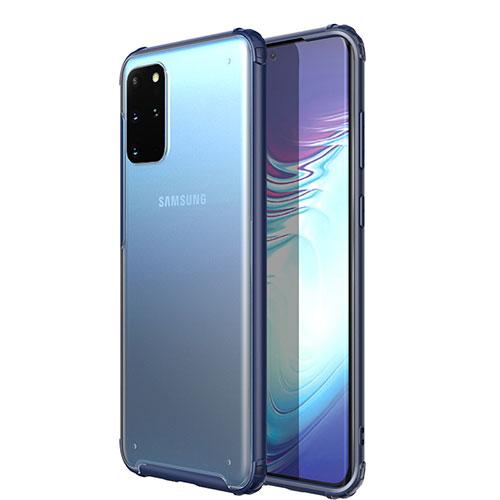 Ultra-thin Transparent TPU Soft Case Cover H02 for Samsung Galaxy S20 Plus 5G Blue