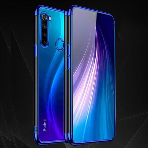Ultra-thin Transparent TPU Soft Case Cover H03 for Xiaomi Redmi Note 8 Blue