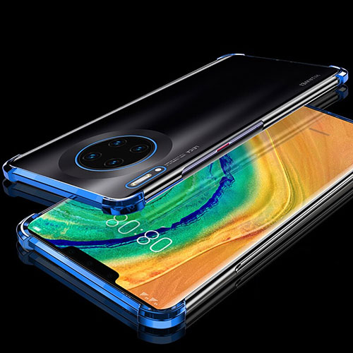 Ultra-thin Transparent TPU Soft Case Cover H04 for Huawei Mate 30 Pro 5G Blue