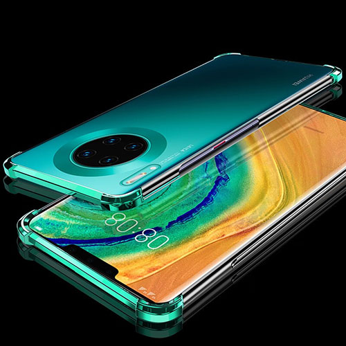 Ultra-thin Transparent TPU Soft Case Cover H04 for Huawei Mate 30 Pro 5G Green