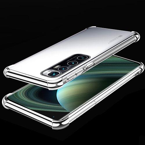 Ultra-thin Transparent TPU Soft Case Cover H04 for Xiaomi Mi 10 Ultra Silver