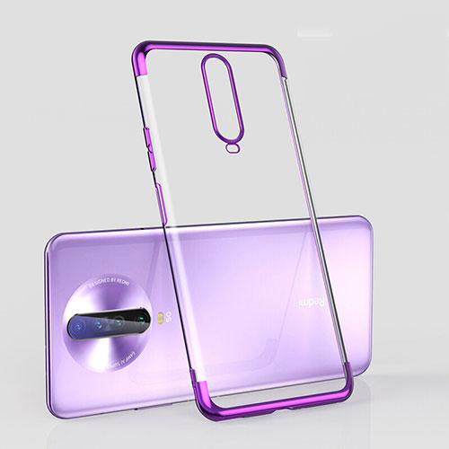 Ultra-thin Transparent TPU Soft Case Cover H05 for Xiaomi Redmi K30 5G Purple