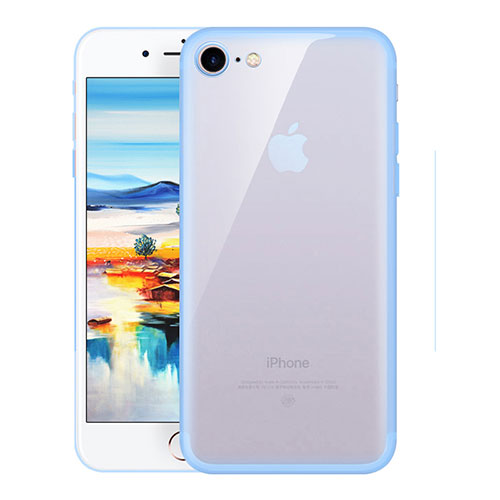 Ultra-thin Transparent TPU Soft Case H01 for Apple iPhone SE (2020) Sky Blue