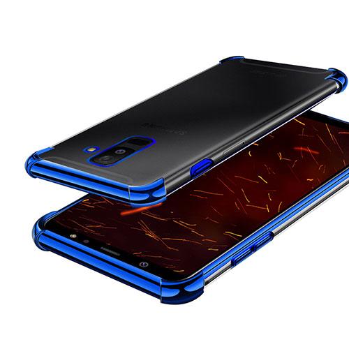 Ultra-thin Transparent TPU Soft Case H01 for Samsung Galaxy A6 Plus Blue