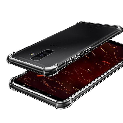 Ultra-thin Transparent TPU Soft Case H01 for Samsung Galaxy A6 Plus Clear