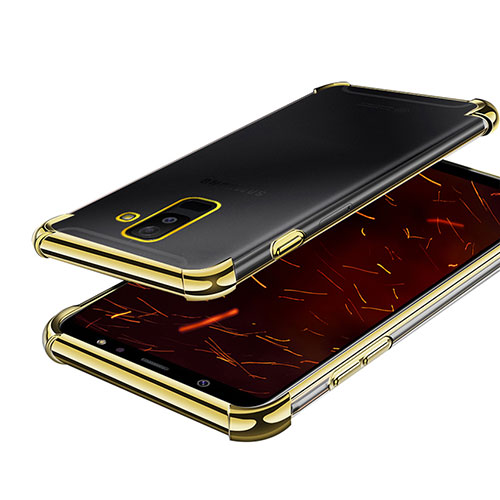 Ultra-thin Transparent TPU Soft Case H01 for Samsung Galaxy A6 Plus Gold