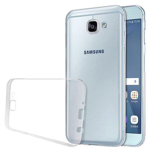 Ultra-thin Transparent TPU Soft Case T02 for Samsung Galaxy A8 (2016) A8100 A810F Clear