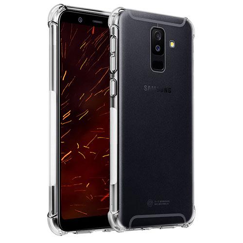 Ultra-thin Transparent TPU Soft Case T04 for Samsung Galaxy A6 Plus Clear