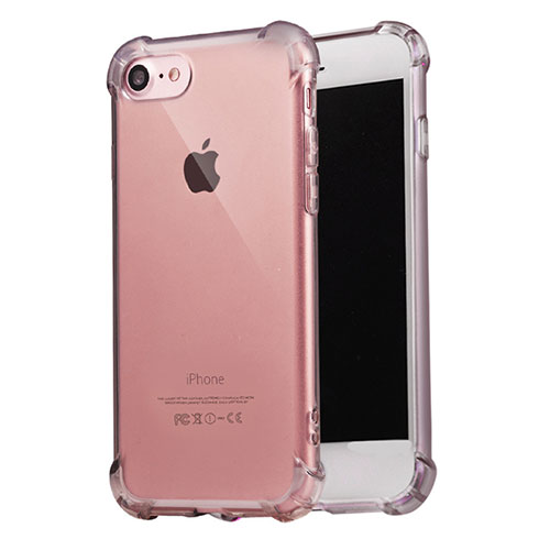 Ultra-thin Transparent TPU Soft Case T07 for Apple iPhone SE (2020) Gray