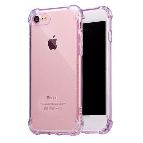 Ultra-thin Transparent TPU Soft Case T07 for Apple iPhone SE (2020) Purple