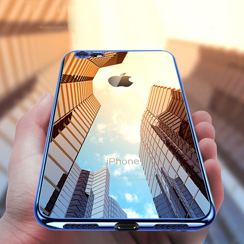 Ultra-thin Transparent TPU Soft Case T21 for Apple iPhone 8 Blue