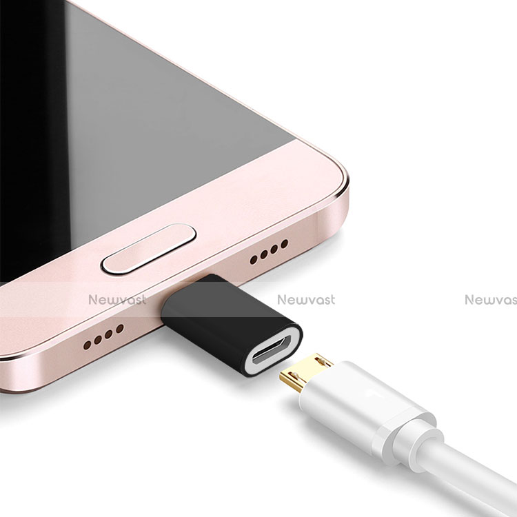 Android Micro USB to Lightning USB Cable Adapter H01 for Apple iPhone SE (2020) Black