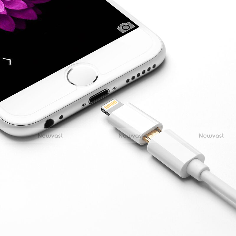 Android Micro USB to Lightning USB Cable Adapter H01 for Apple iPhone SE (2020) White