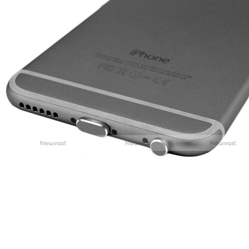 Anti Dust Cap Lightning Jack Plug Cover Protector Plugy Stopper Universal J01 for Apple iPhone SE (2020) Black
