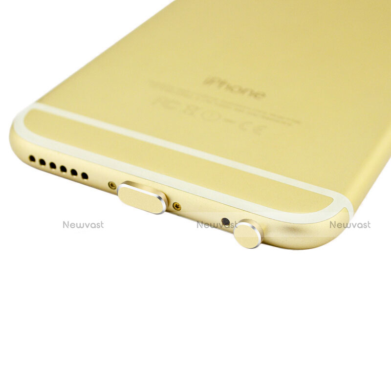 Anti Dust Cap Lightning Jack Plug Cover Protector Plugy Stopper Universal J01 for Apple iPhone SE (2020) Gold