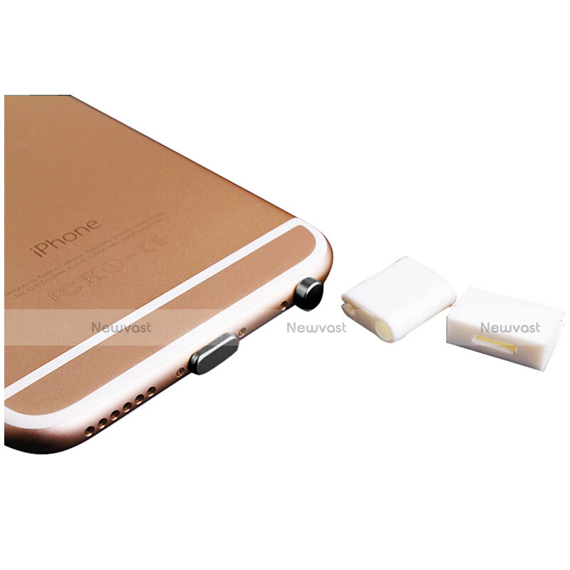 Anti Dust Cap Lightning Jack Plug Cover Protector Plugy Stopper Universal J02 for Apple iPhone SE (2020) Black