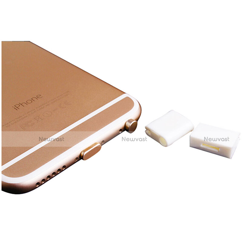 Anti Dust Cap Lightning Jack Plug Cover Protector Plugy Stopper Universal J02 for Apple iPhone SE (2020) Gold