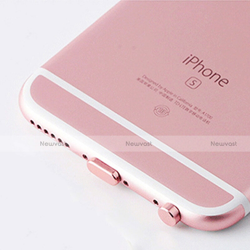 Anti Dust Cap Lightning Jack Plug Cover Protector Plugy Stopper Universal J02 for Apple iPhone SE (2020) Rose Gold
