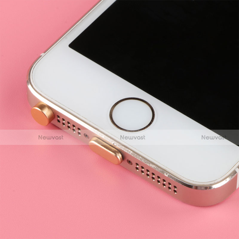 Anti Dust Cap Lightning Jack Plug Cover Protector Plugy Stopper Universal J05 for Apple iPhone 11 Pro Gold