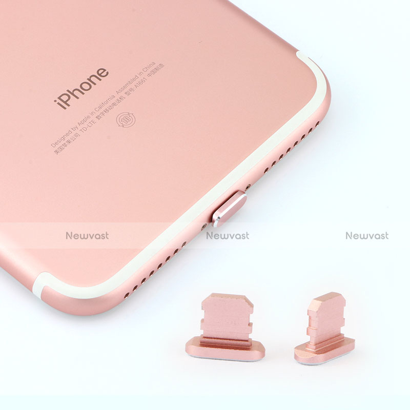 Anti Dust Cap Lightning Jack Plug Cover Protector Plugy Stopper Universal J06 for Apple iPhone SE (2020) Silver