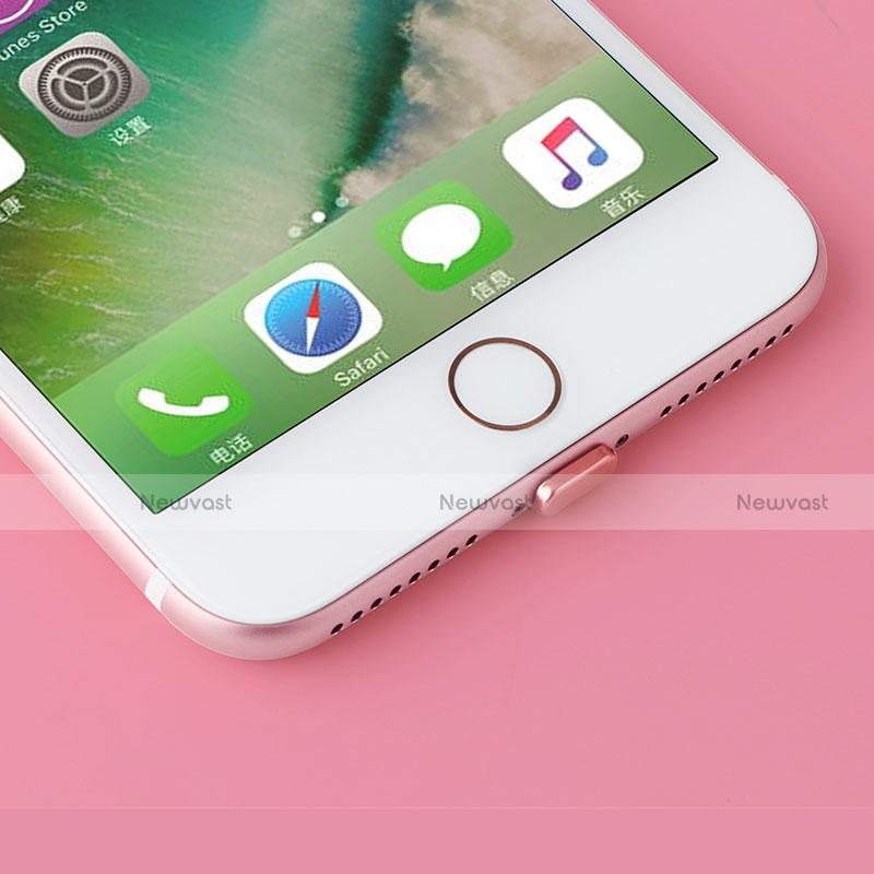 Anti Dust Cap Lightning Jack Plug Cover Protector Plugy Stopper Universal J07 for Apple iPhone SE (2020) Black