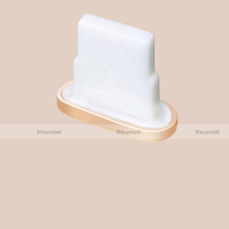 Anti Dust Cap Lightning Jack Plug Cover Protector Plugy Stopper Universal J07 for Apple iPhone SE (2020) Gold