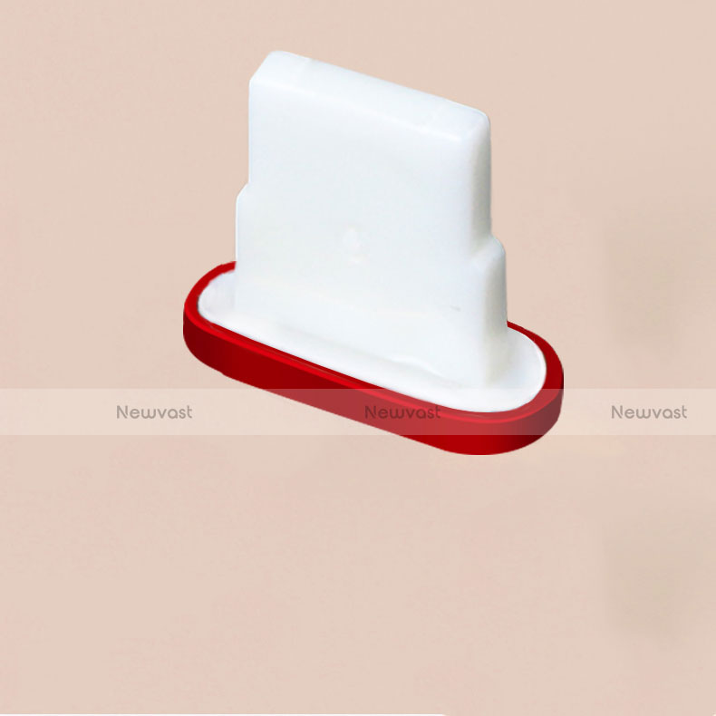 Anti Dust Cap Lightning Jack Plug Cover Protector Plugy Stopper Universal J07 for Apple iPhone SE (2020) Red