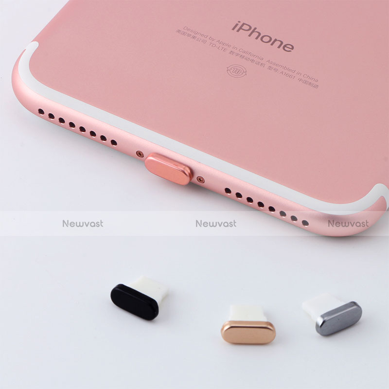 Anti Dust Cap Lightning Jack Plug Cover Protector Plugy Stopper Universal J07 for Apple iPhone SE (2020) Rose Gold