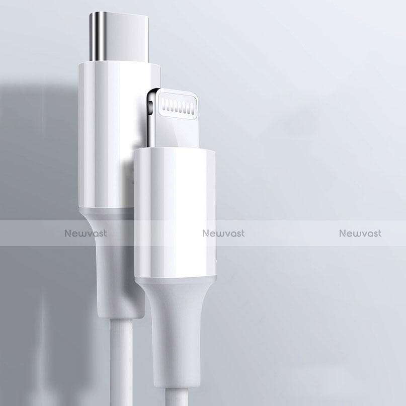 Charger USB Data Cable Charging Cord C02 for Apple iPhone SE (2020) White